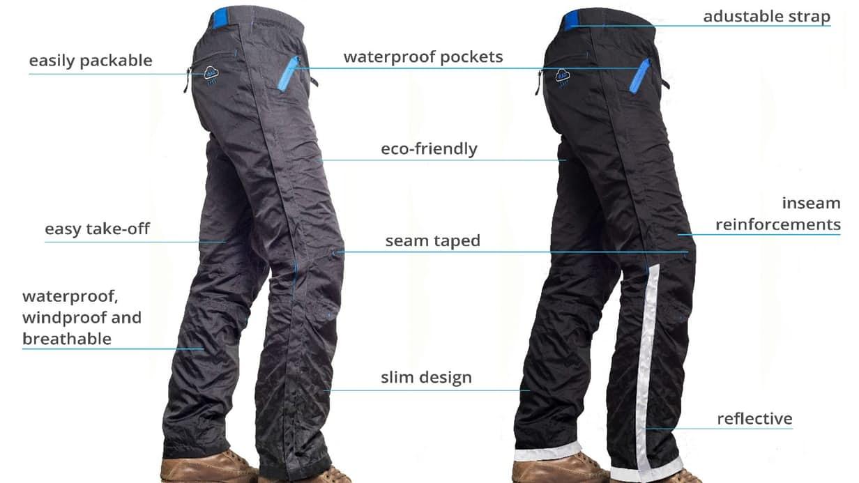 Des pantalons imperméables pour cyclistes plus rapides à
