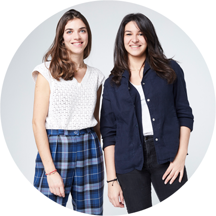 Rym Trabelsi et Marguerite Dorangeon, co-fondatrice de Clear Fashion