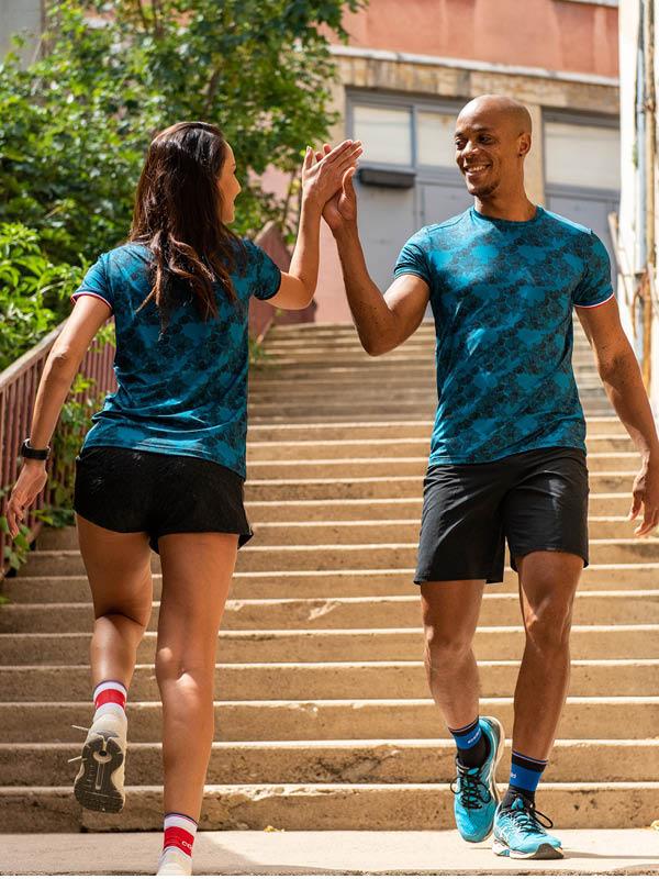 T-shirts et chaussettes de runing Coureur du Dimanche