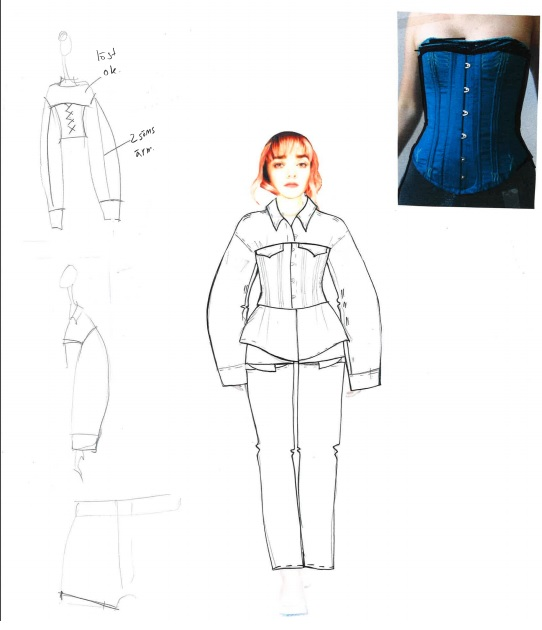 patron vêtement Maisie Williams