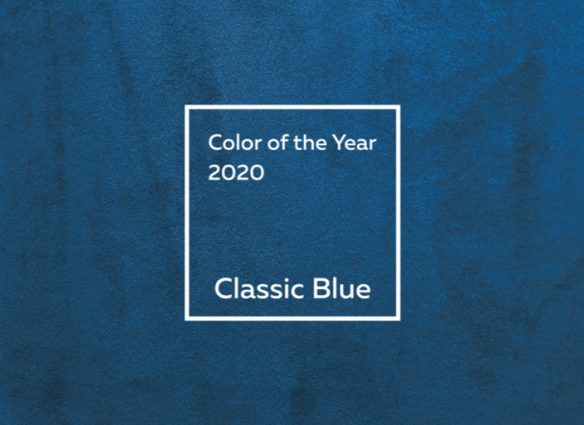 Pantone color of the year 2020 is classic blue