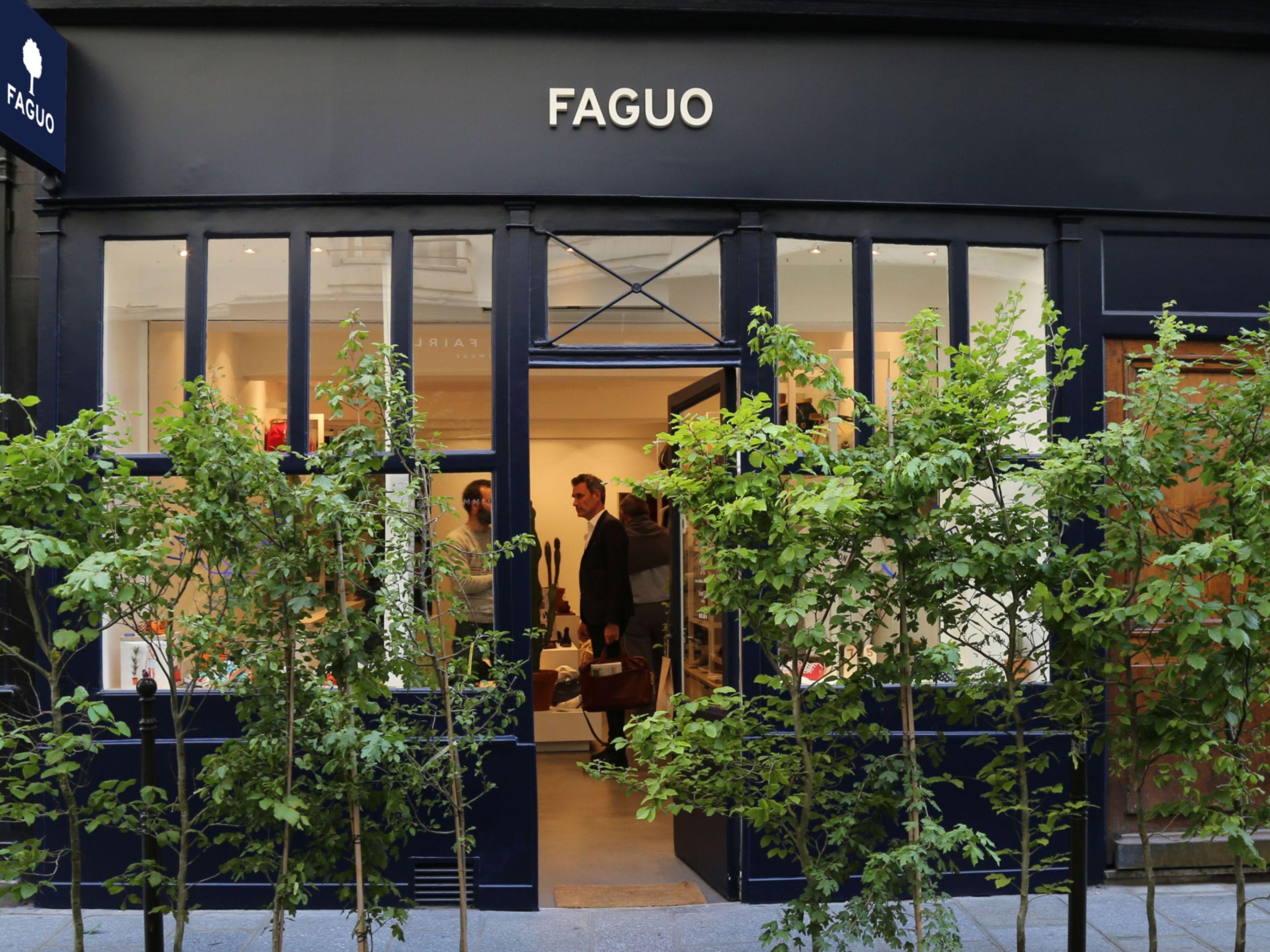 Devanture d'une boutique Faguo
